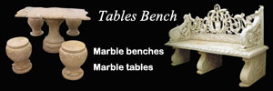 Marble tables and benches